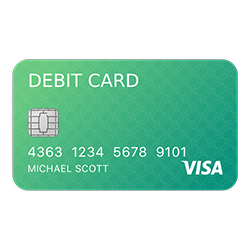 many ways to pay green debit card